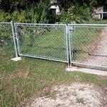 Pose de barrière en acier galvanisé